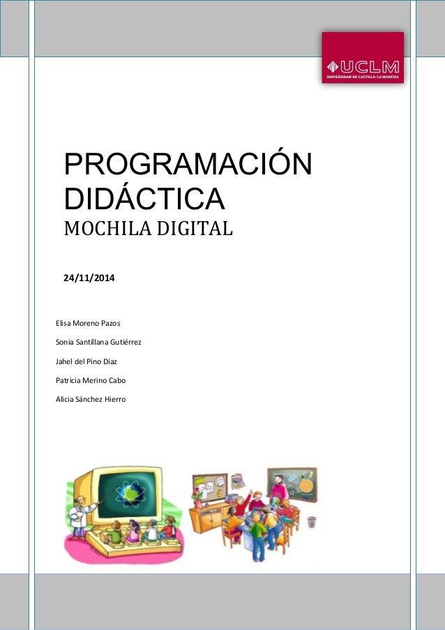 Programaci 211 N Did 193 Ctica Primaria Mochila Digital