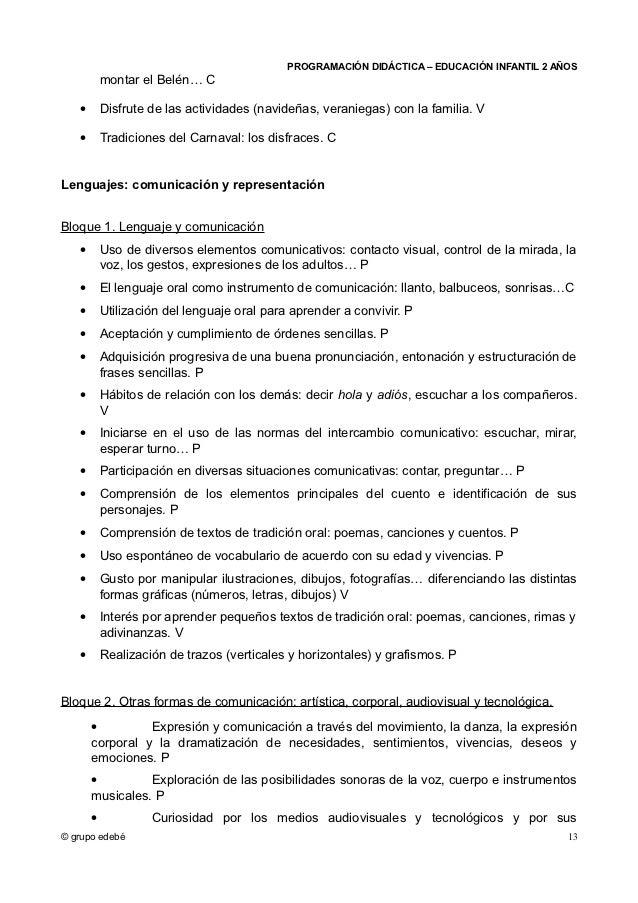 PROGRAMACIÓN DIDÁCTICA – EDUCACIÓN INFANTIL 2 AÑOS           montar el Belén… C   •       Disfrute de las actividades (nav...