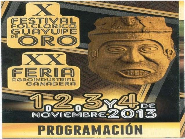 X FESTIVAL FOLCRORICO GUAYUPE DE ORO