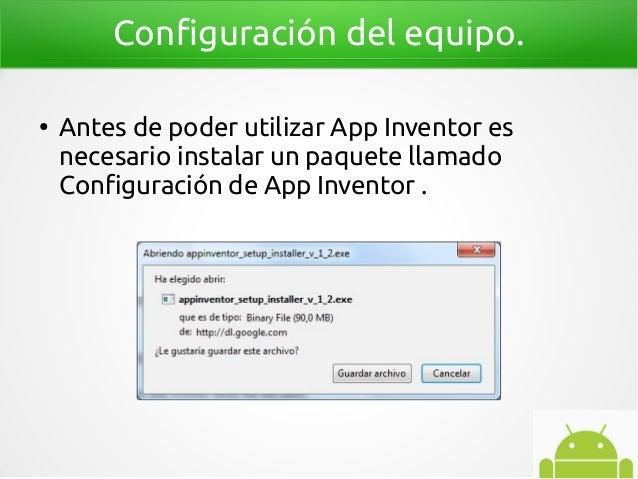 Programación para niños app inventor