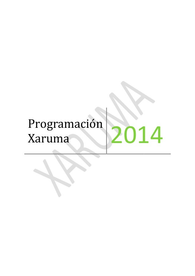 Programación Xaruma 2014