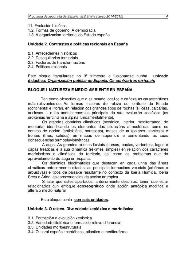 Programa de xeografía de España. IES Elviña (curso 2014-2015) 5  Unidade 4. O clima. Diversidade climática  4.1. Factores ...