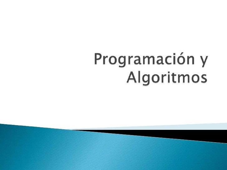 Programación y Algoritmos<br />