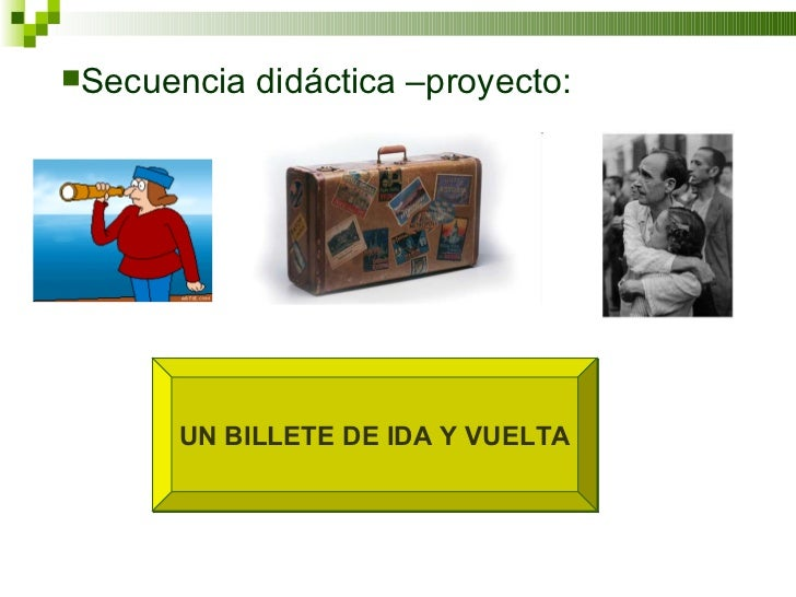 UN BILLETE DE IDA Y VUELTA <ul><li>Secuencia didáctica –proyecto: </li></ul>