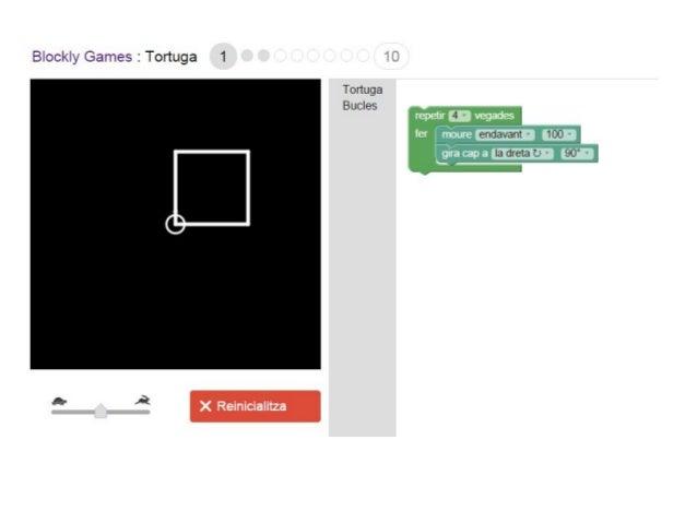 Programació amb Blockly Games Turtle Slide 2
