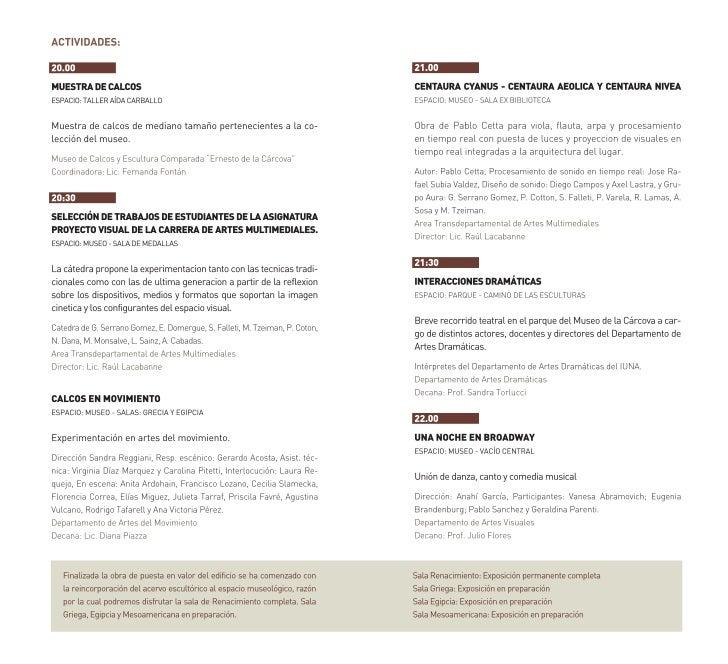Programacion   noche de los museos - 2011