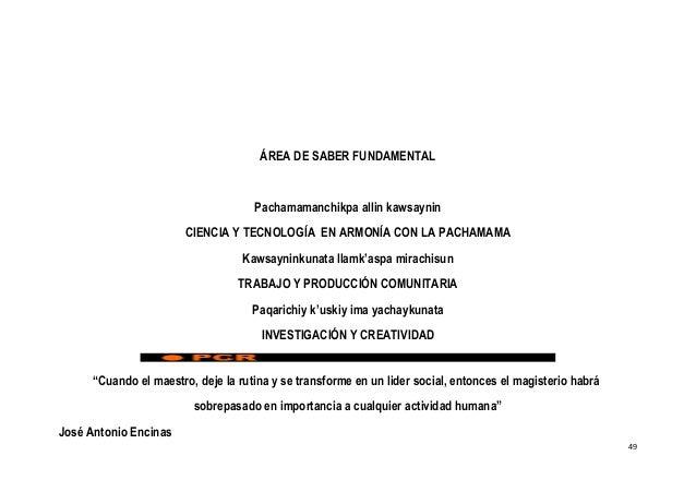 ÁREA DE SABER FUNDAMENTAL Pachamamanchikpa allin kawsaynin CIENCIA Y TECNOLOGÍA EN ARMONÍA CON LA PACHAMAMA Kawsayninkunat...
