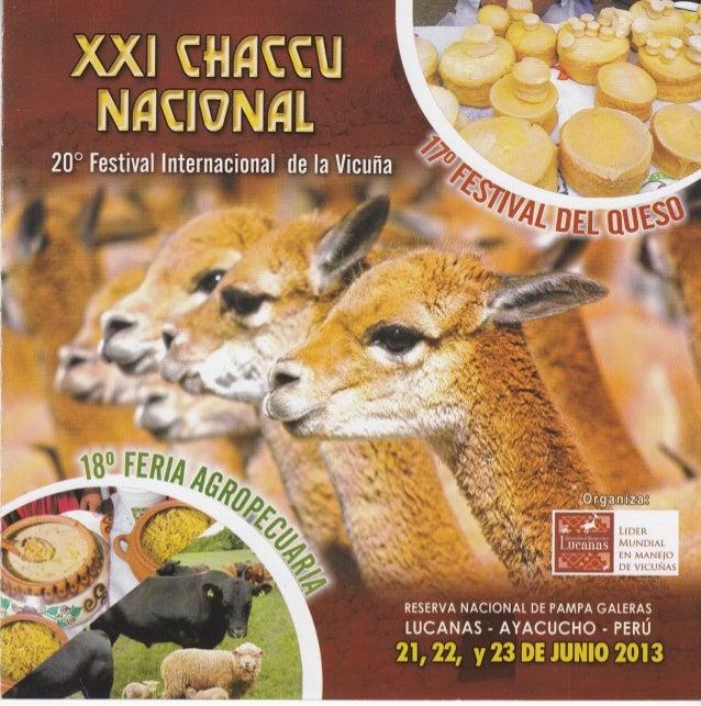 Programación del XXI Chaccu Nacional 2013