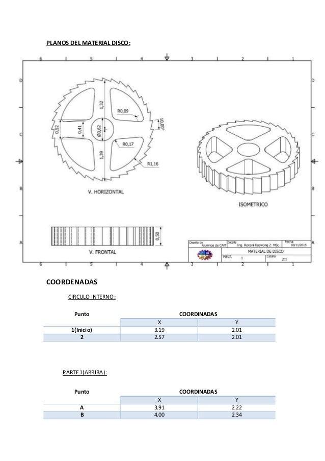 Programacion cnc material de disco Slide 3