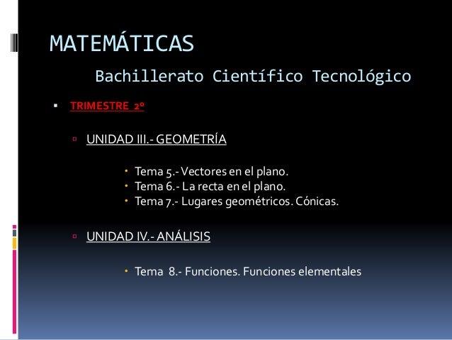 Programacion de matematicas bachiller def Slide 3