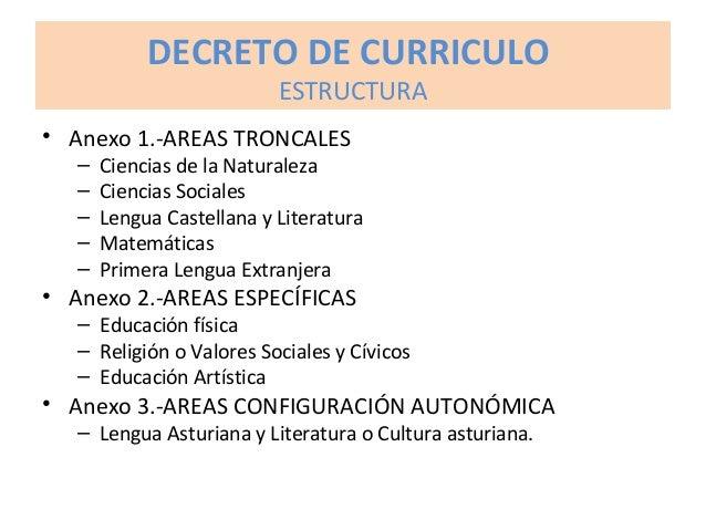 DECRETO DE CURRICULO ESTRUCTURA • Anexo 4.- METODOLOGÍA DIDÁCTICA. Recomendaciones de carácter general: » Enfoque integrad...