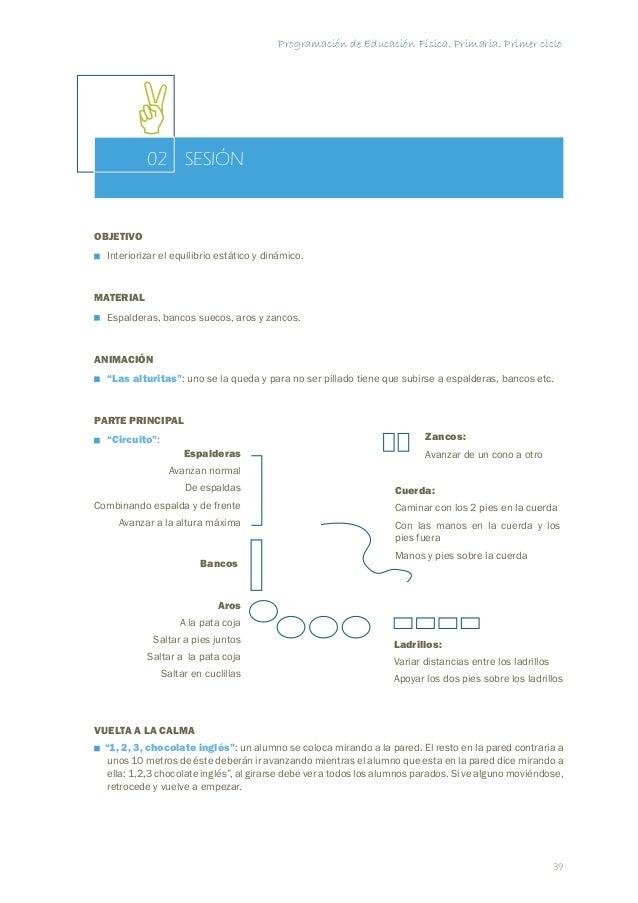 Programación de Educación Física. Primaria. Primer ciclo  SESIÓN  46  03  MARCHA Y CARRERA  OBJETIVO  Mejorar las formas b...
