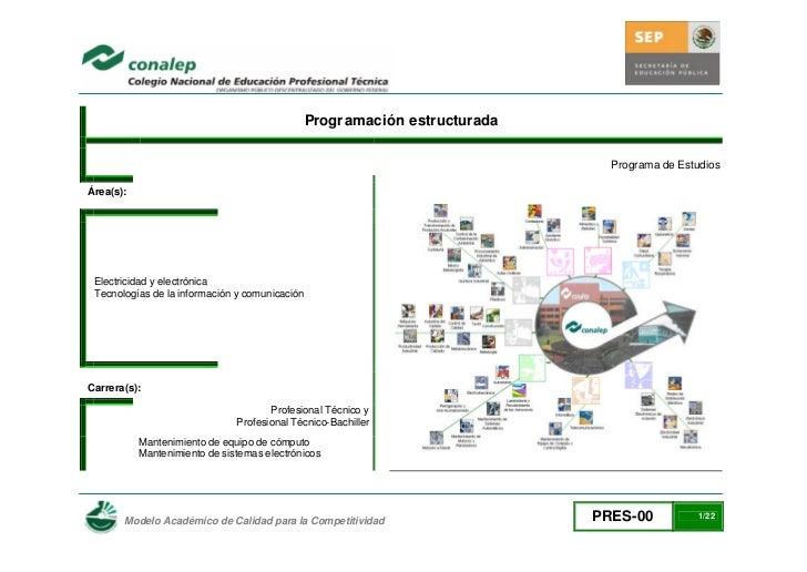 Progr amación estructurada                                                                               Programa de Estud...