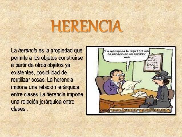 HERENCIA SIMPLE: en la cual una clase hija hereda de su clase padre. Si una clase sólo puede recibir características de ot...