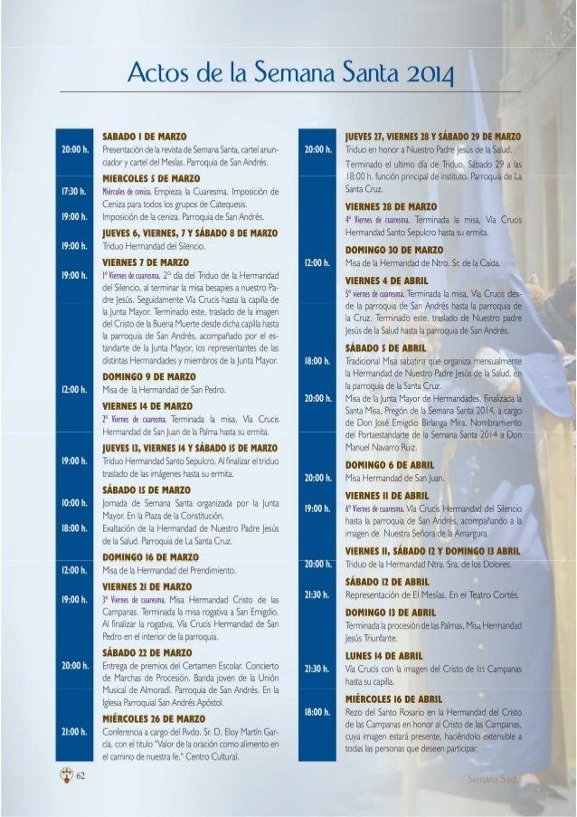 Programacion semana santa 2014 almoradi