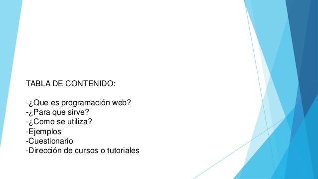 Programacion web Slide 2