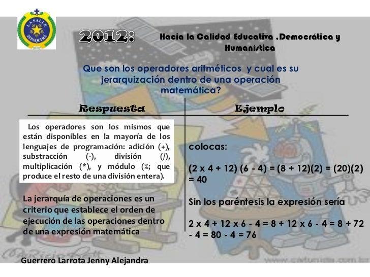 Hacia la Calidad Educativa ,Democrática y                                                  Humanística          Cuales y q...