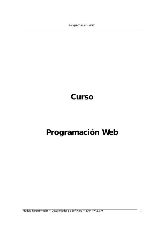 Programación Web                                       Curso                   Programación WebModelo Paracurricular – Des...