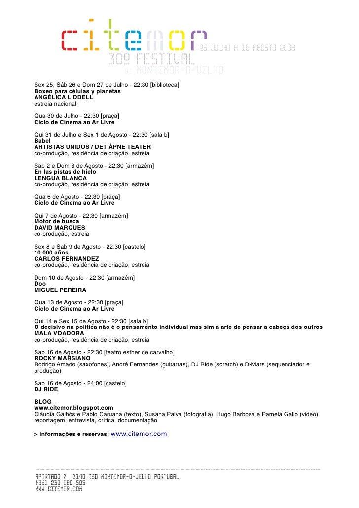 Sex 25, Sáb 26 e Dom 27 de Julho - 22:30 [biblioteca] Boxeo para células y planetas ANGÉLICA LIDDELL estreia nacional  Qua...