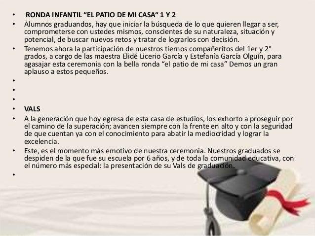 Programa Ceremonia De Graduación Con Frases