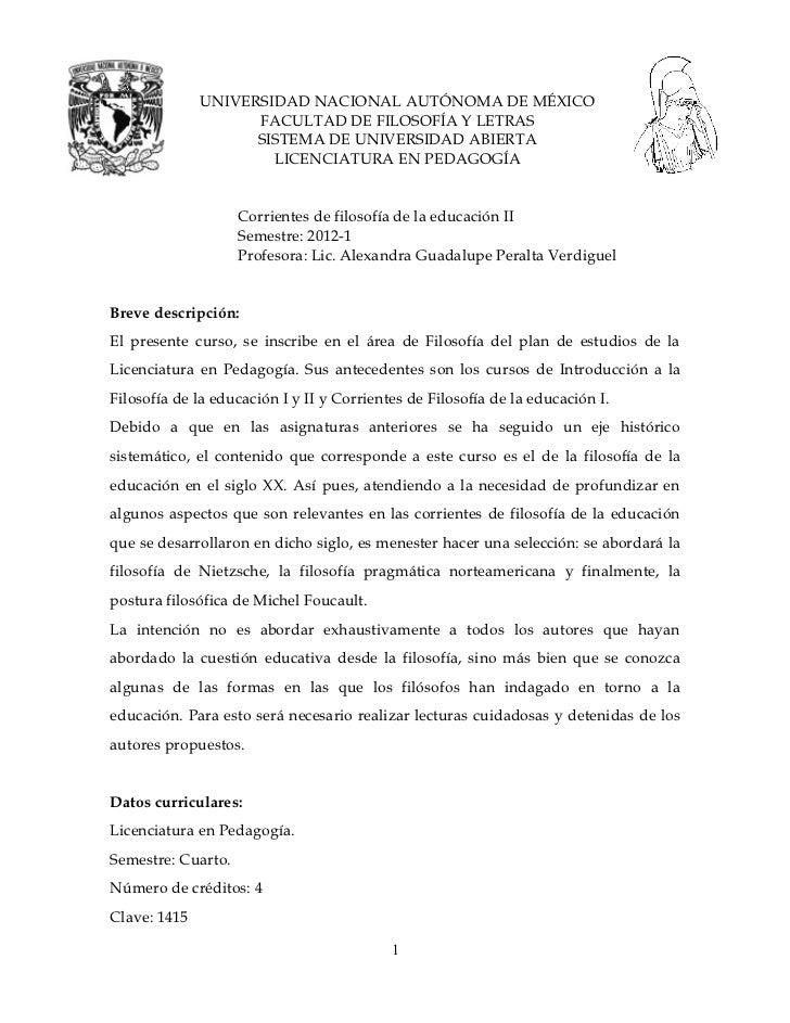 UNIVERSIDAD NACIONAL AUTÓNOMA DE MÉXICO                    FACULTAD DE FILOSOFÍA Y LETRAS                    SISTEMA DE UN...