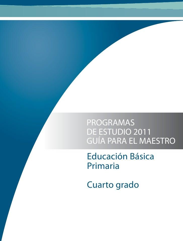 Programa cuarto grado primaria for Programa de cuarto
