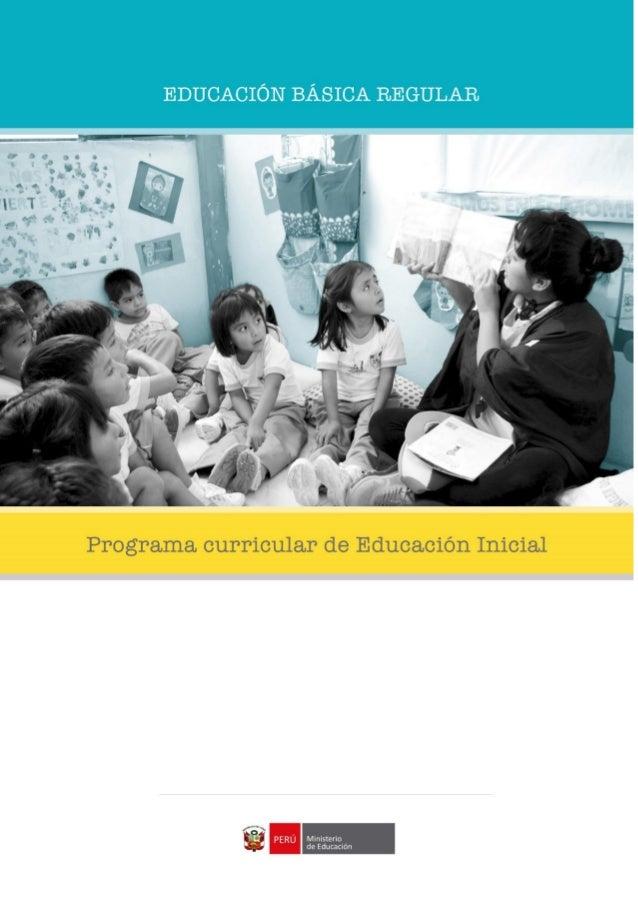 programa curricular de educaci n inicial 2016