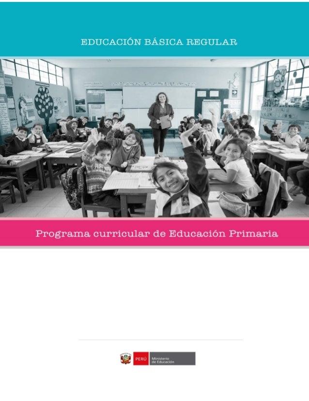 Programa curricular educaci n primaria 2017 for Diseno curricular primaria