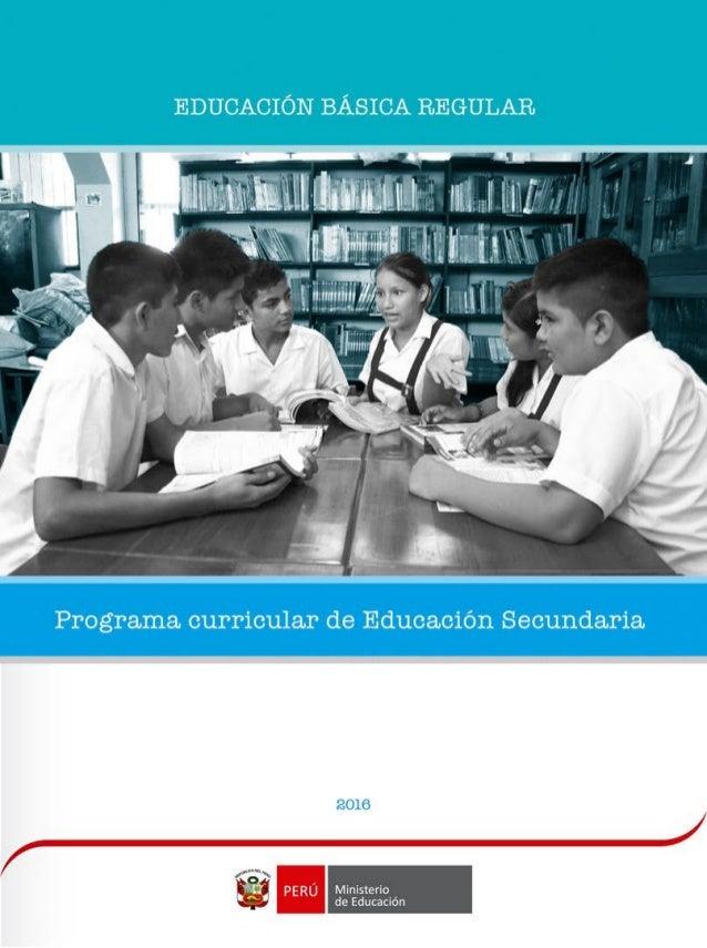 programa curricular educacion secundaria 2016 On programa curricular de educacion inicial