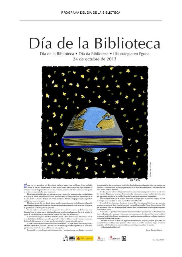 PROGRAMA DEL DÍA DE LA BIBLIOTECA