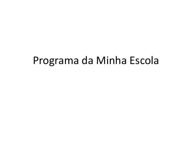 Programa da Minha Escola