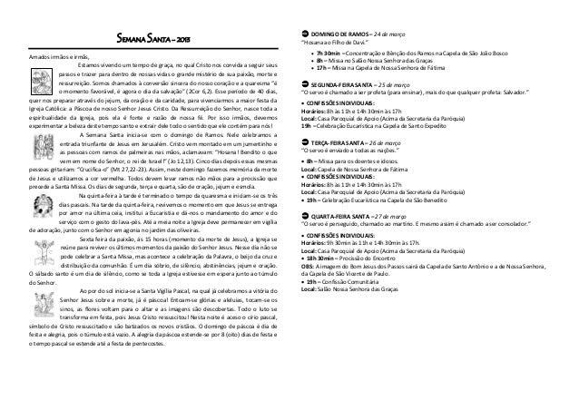 SEMANA SANTA – 2013                                                     DOMINGO DE RAMOS – 24 de março                   ...