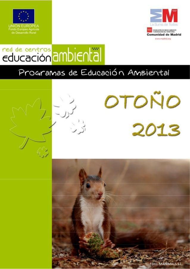 Programa de actividades otoño 2013 red de centros de educacion ambien…