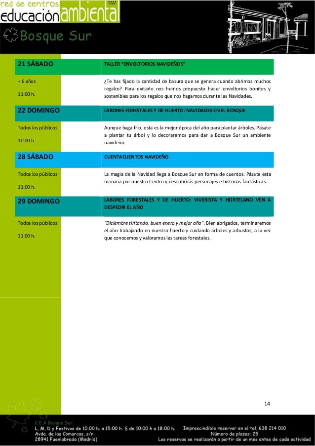Programa de actividades oto o 2013 red de centros de for Importancia economica ecologica y ambiental de los viveros forestales