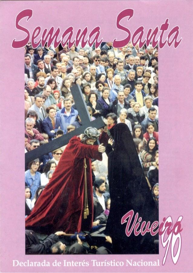 Programa de actos de la Semana Santa de Viveiro 1996