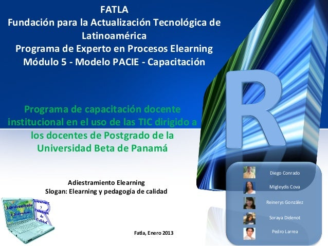 FATLAFundación para la Actualización Tecnológica de                Latinoamérica  Programa de Experto en Procesos Elearnin...