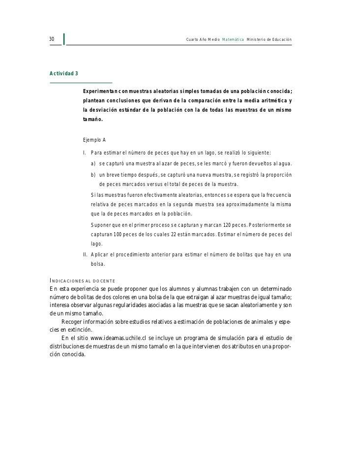 Programa de cuarto medio for Programa de cuarto