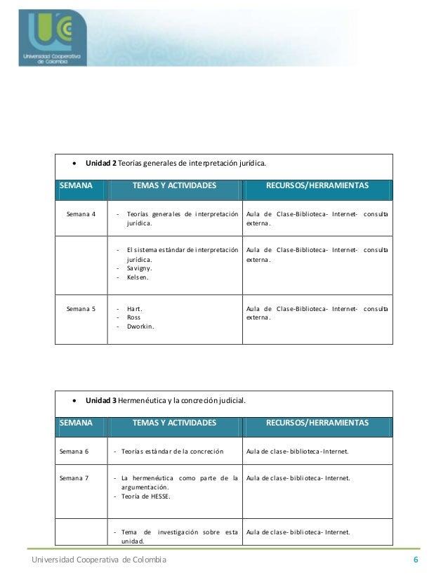 Programa de curso argumentacion juridica