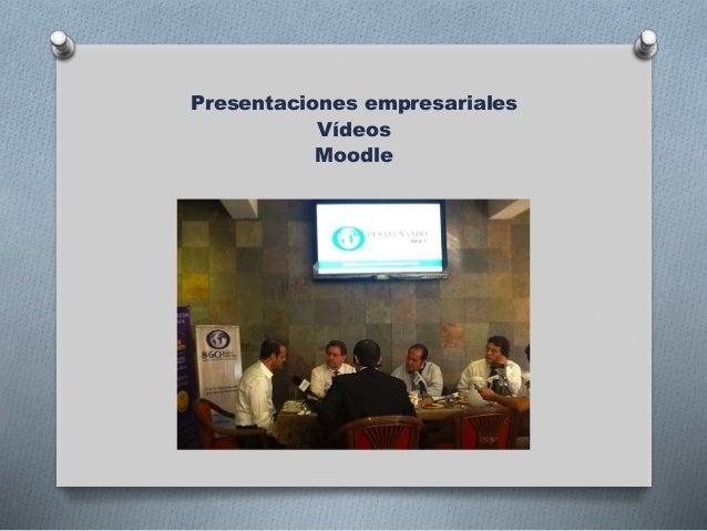 Presentaciones empresariales Vídeos Moodle