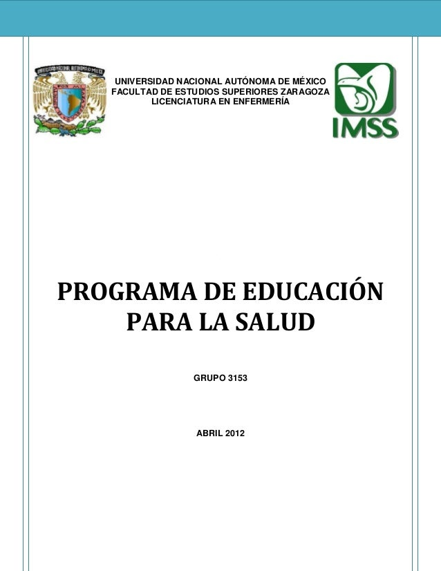 UNIVERSIDAD NACIONAL AUTÓNOMA DE MÉXICO   FACULTAD DE ESTUDIOS SUPERIORES ZARAGOZA           LICENCIATURA EN ENFERMERÍA   ...