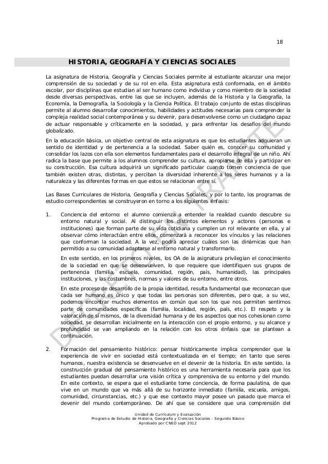 18         HISTORIA, GEOGRAFÍA Y CIENCIAS SOCIALESLa asignatura de Historia, Geografía y Ciencias Sociales permite al estu...