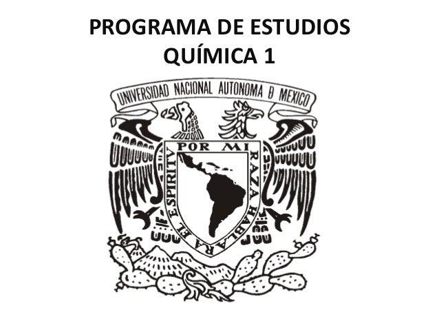 PROGRAMA DE ESTUDIOS QUÍMICA 1