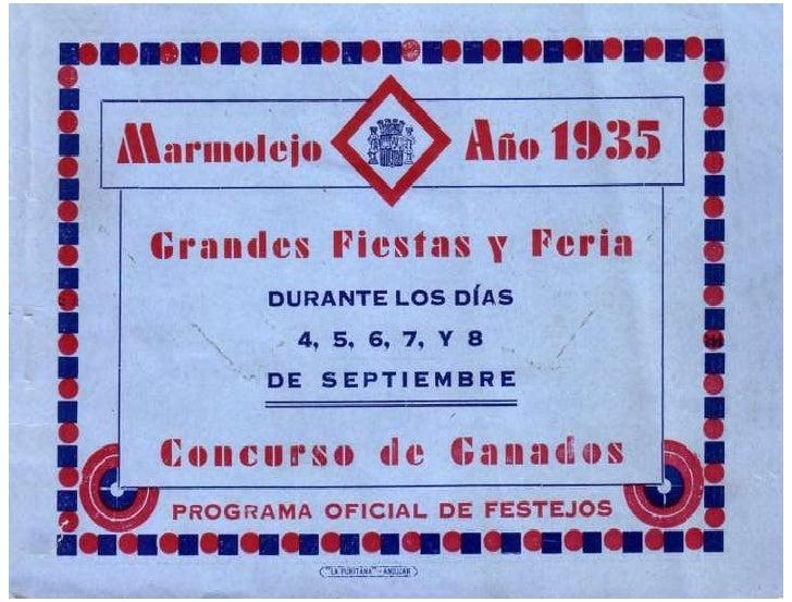 Programa de Feria año 1935