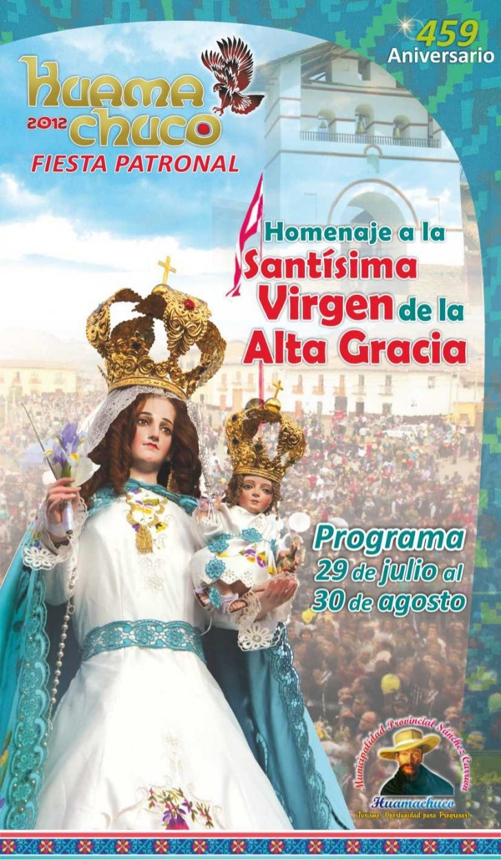 PROGRAMA OFICIAL DE LA FIESTA PATRONAL DE HUAMACHUCO 2012