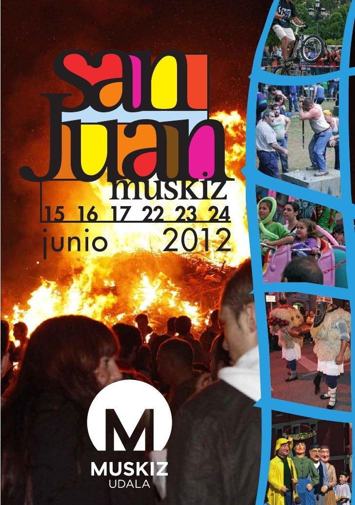 Programa de fiestas de  muskiz 2012