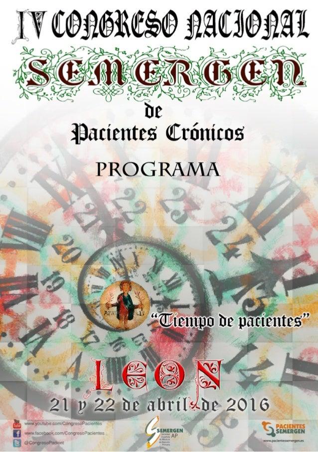 2 Bienvenida León, 21 de abril de 2016 Presentación Un año nuevo para traer ilusión a nuestros com- promisos como Sociedad...