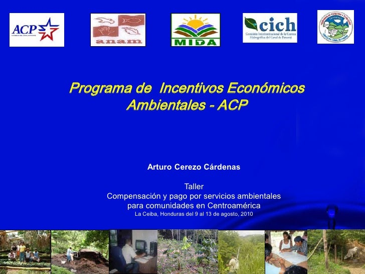 Programa de Incentivos Económicos       Ambientales - ACP                Arturo Cerezo Cárdenas                       Tall...