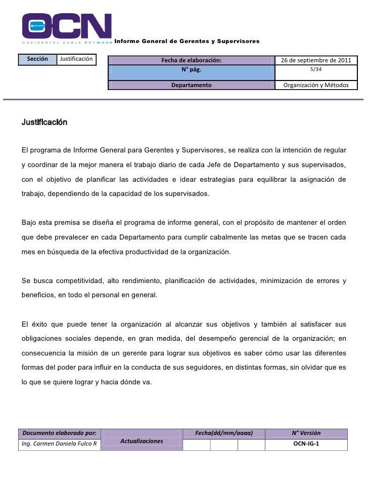 formatos de informes gerenciales