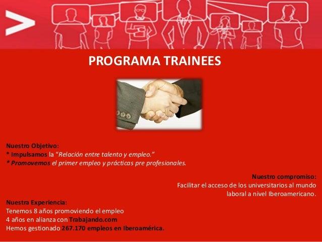 Programa de Trainees Slide 3