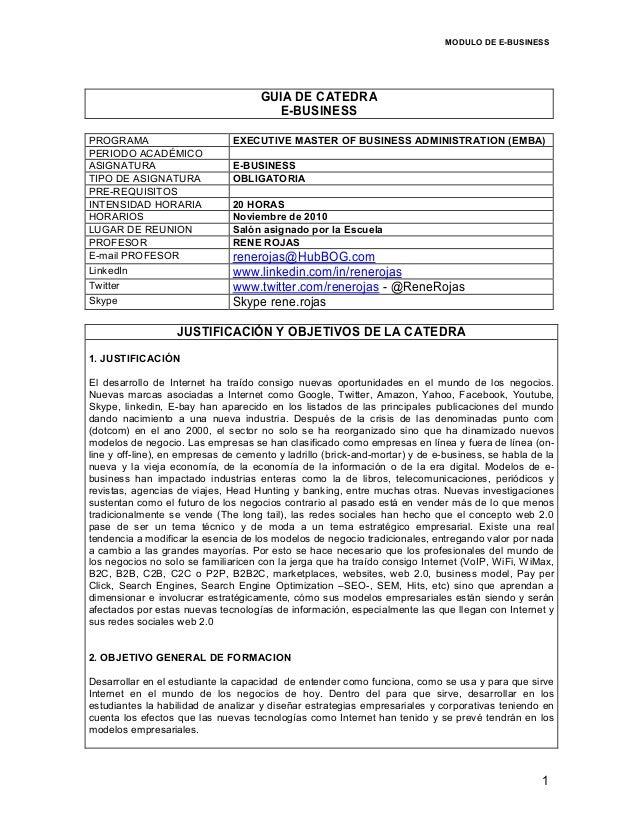 MODULO DE E-BUSINESS                                          GUIA DE CATEDRA                                        E-BUS...